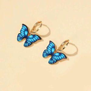 ⭕️ 3/$20! Blue butterfly earrings